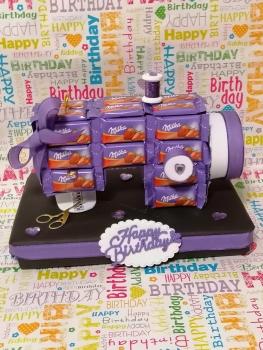 Schokolade Tafeln Nähmaschine zum Geburtstag