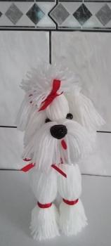 Geschenkbox  Nikolaus Hund mit einer kl.Sektflasche